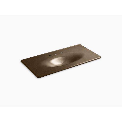 """Black 'n Tan 43"""" Vanity-top Bathroom Sink With 8"""" Widespread Faucet Holes"""
