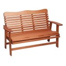 Red Grandis Bench in Russet Brown Product Image