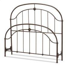 Cascade Bed with Metal Panels and Twisted-Rope Rail, Ancient Gold Finish, California King