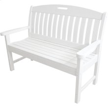 Avalon All-Weather 48 In. Porch Bench in White