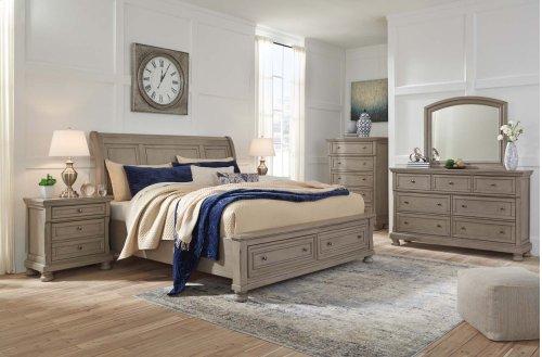 Lettner - Light Gray 3 Piece Bed Set (King)