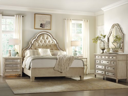 Bedroom Sanctuary California King Tufted Bed-Pearl Essence