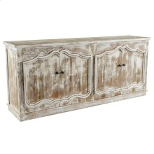 """Zoe 4Dr Sideboard 82"""" Off-White"""