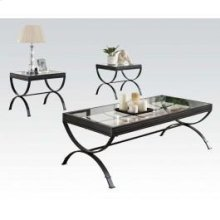 Black 3pc Pk Coffee/end Table