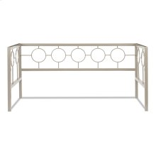 Astoria Metal Daybed Frame with Circle Design Panels and Perfect Square Profile, Champagne Finish, Twin