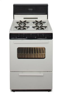 24 in. Freestanding Gas Range in Biscuit