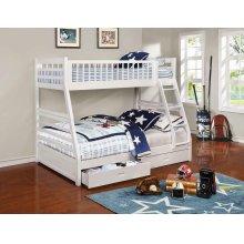 Ashton White Twin-over-full Bunk Bed