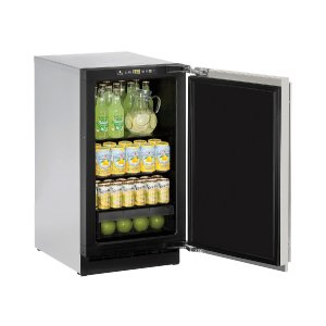 """U-Line2000 Series 18"""" Solid Door Refrigerator With Stainless Solid Finish and Field Reversible Door Swing (115 Volts / 60 Hz)"""