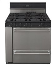 36 in. Freestanding Open Burner Gas Range in Stainless Steel Product Image
