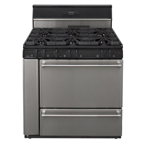 36 in. Freestanding Open Burner Gas Range in Stainless Steel