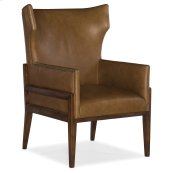Living Room Burrell Leather Accent Chair