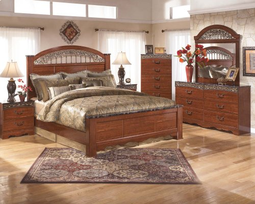 Fairbrooks Estate - Reddish Brown 2 Piece Bedroom Set