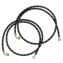 6' Gooseneck Nylon Braid Fill Hoses - 2 Pack - Other