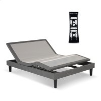 S-Cape 2.0 Adjustable Furniture-Style Bed Base with Wooden Legs and Wallhugger Technology, Charcoal Gray Finish, Queen Product Image