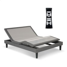 S-Cape 2.0 Adjustable Furniture-Style Bed Base with Wooden Legs and Wallhugger Technology, Charcoal Gray Finish, Queen
