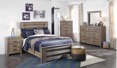 Zelen - Warm Gray 3 Piece Bed Set (Full)