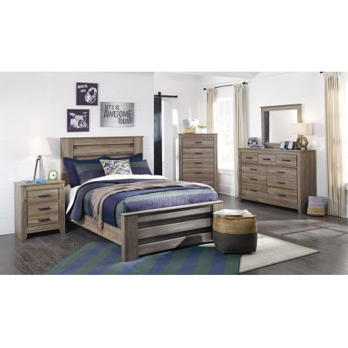 Zelen - Warm Gray 3 Piece Bed Set (Full)