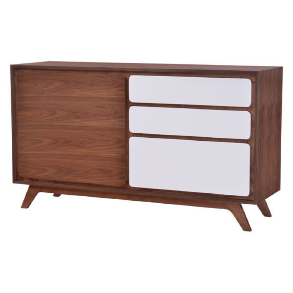 Father Buffet Walnut & White