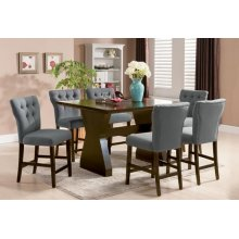 GRAY COUNTER HEIGHT CHAIR