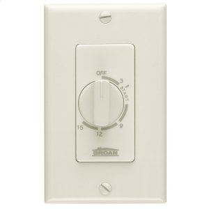 Broan15 Minute Time Control, Ivory, 20/10 amps, 120/240V