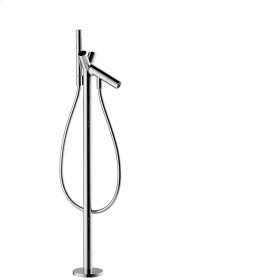 Polished Red Gold 2-handle bath mixer floor-standing