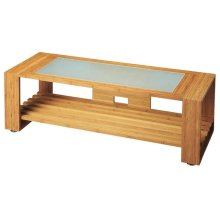 This Ivanhoe entertainment console is the perfect place for your TV and all the equipment that comes with. The tempered glass and solid bamboo shelf and back will give any space a modern feel.