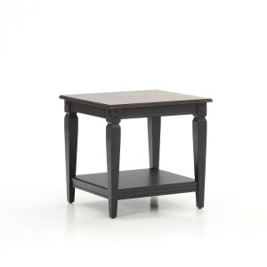 Intercon FurnitureGlennwood End Table  Black & Charcoal