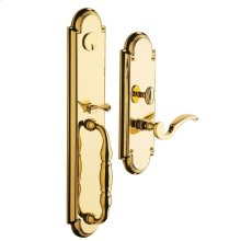 Lifetime Polished Brass Hamilton Entrance Set