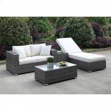 Somani Love Seat + Adj Chaise + End Table + Coffee Table