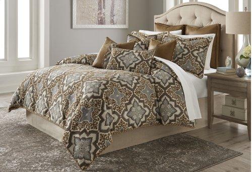 10pc King Comforter Set Saddle