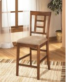 Cross Island - Medium Brown Set Of 2 Dining Room Barstools Product Image