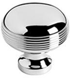 "Polished Brass Cupboard knob, 1"" diameter"