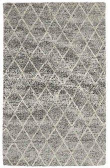 Diamond Looped Wool Gray 8x10