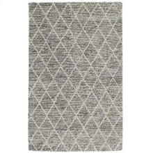Diamond Looped Wool Gray 8x10