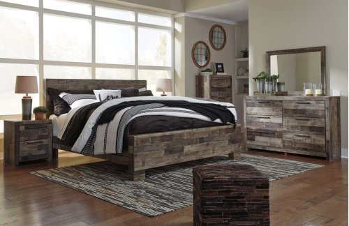Derekson - Multi Gray 3 Piece Bed Set (King)