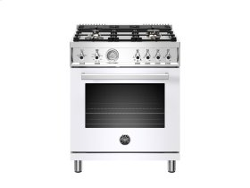 30 inch All Gas Range, 4 Brass Burner White