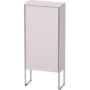 Semi-tall Cabinet Floorstanding, White Lilac Satin Matt Lacquer