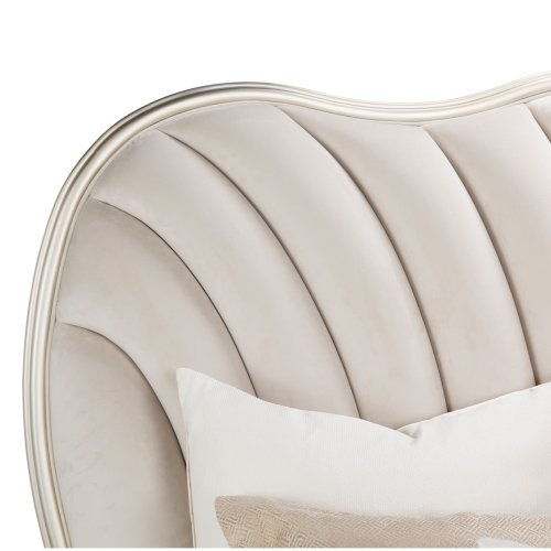 Cal King Upholstered Panel Bed (3 Pc)