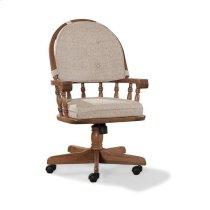 Oak Tilt Swivel Game Chair Product Image