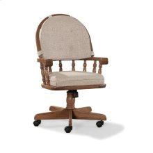 Oak Tilt Swivel Game Chair