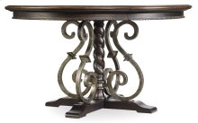 """Dining Room Treviso Round Dining Table with One 18"""" Leaf"""