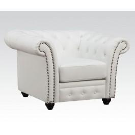 White Bonded Leather Chair Hidden