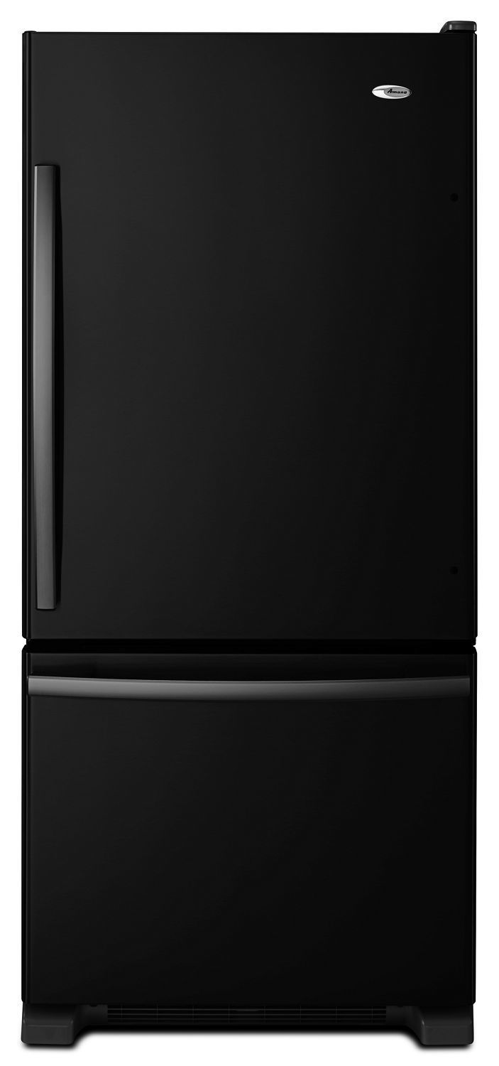 Amana29-Inch Wide Bottom-Freezer Refrigerator With Easyfreezer Pull-Out Drawer -- 18 Cu. Ft. Capacity Black