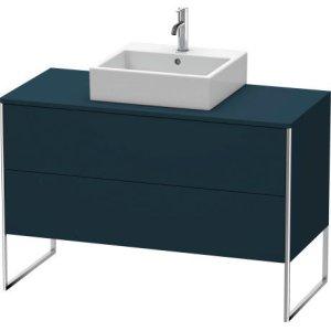 Vanity Unit For Console Floorstanding, Night Blue Satin Matt Lacquer
