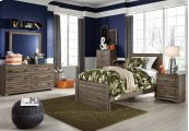 Javarin - Grayish Brown 3 Piece Bed Set (Twin)