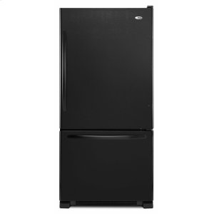 Amana33-inch Wide Bottom-Freezer Refrigerator with EasyFreezer Pull-Out Drawer - 22 cu. ft. Capacity - Black