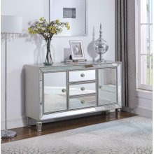 Metallic Platinum Accent Cabinet