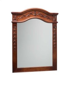 "Bordeaux Traditional 30"" x 38"" Solid Wood Framed Bathroom Mirror in Colonial Cherry"