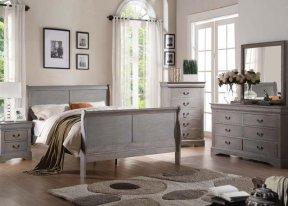 L.P.III Gray Queen Bed