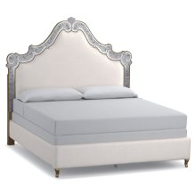 Bedroom Swirl King Venetian Upholstered Bed